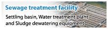 [下水処理施設設備]消化ガス発電設備、沈砂池設備、水処理設備、汚泥脱水設備