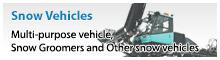 [雪上車輌]ゲレンデ整備車、南極観測用雪上車、多目的装軌車